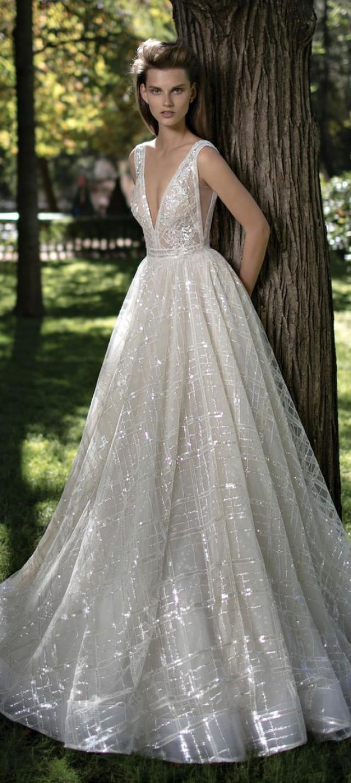 32 sexy deep plunging v neck wedding dresses 2551894 for Plunge neck wedding dress