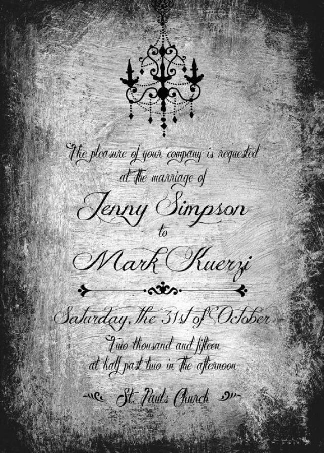Gothic wedding invite printable halloween wedding invite for Free printable gothic wedding invitations