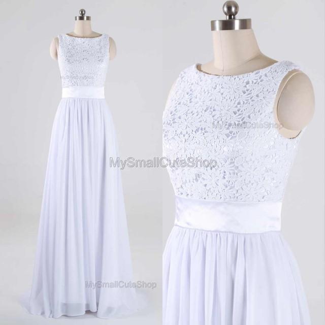 wedding photo - Ivory  bridesmaid dress,Lace/chiffon prom dress,Custom formal dress,Sheath/column party dress,Floor-length evening dress,Prom dress 2016