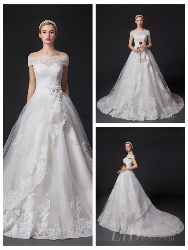 wedding photo - Off-the-shoulder Princess A-line Wedding Dress