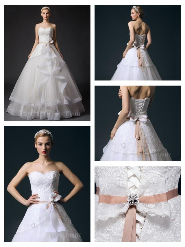 wedding photo - Strapless A-line Wedding Dress