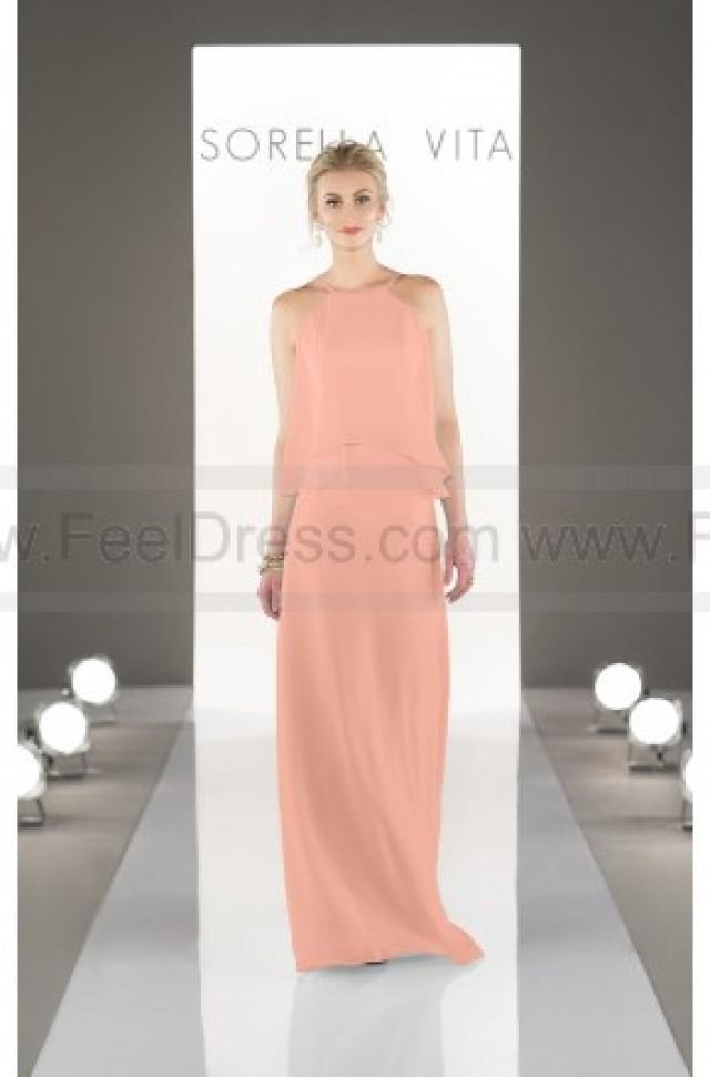 wedding photo - Sorella Vita Floor-Length Chiffon Bridesmaid Dress Style 8736