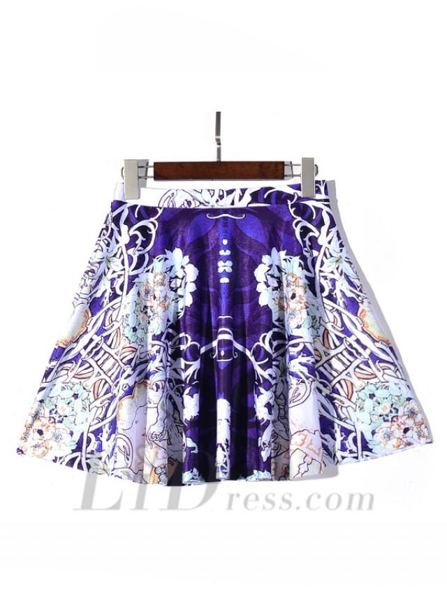 wedding photo - Womens Boutique Fan Series With Best Selling Digital Flower Pleated Skirts Skt1200