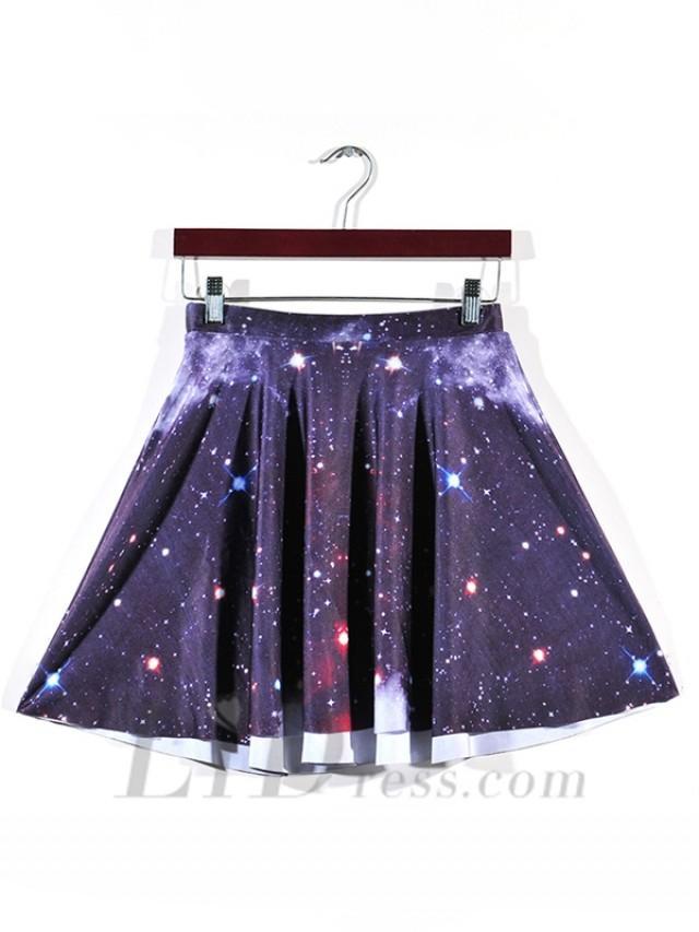 wedding photo - Star Hot Digital Printing And Purple Star Skirts Skt1192
