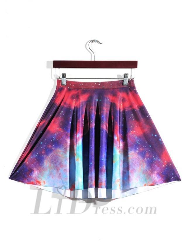 wedding photo - Hot Digital Color Nebula Skirt Skt1191