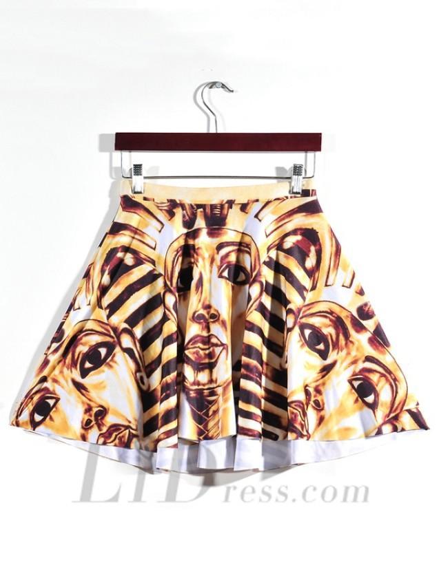 wedding photo - Hot Digital Printing Pleated Skirt Skt1169