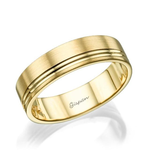 mens wedding band wedding ring 14k gold ring mens