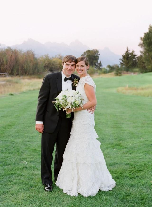 Formal rustic wedding at jackson hole golf and tennis club in