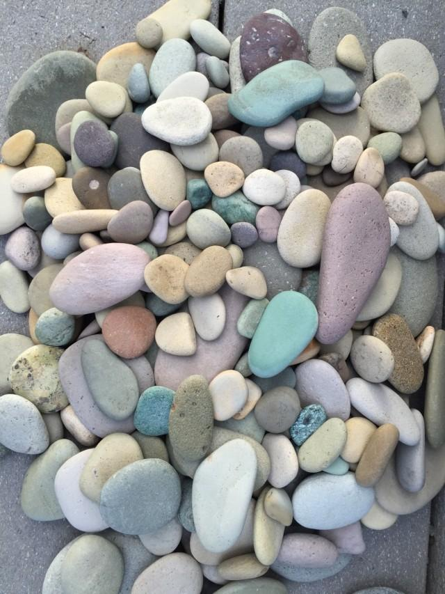Colorful river rocks from alaska pastel stones garden for Decorative river stones