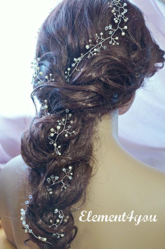 Bridal Hair Vines Extra Long Hair Vines Wedding Hair