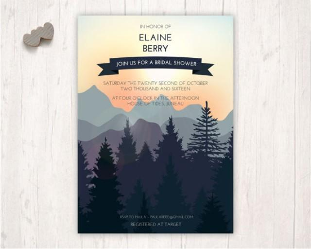 Outdoor Wedding Invitation Wording: Bridal Shower Invites, Nature Wedding Stationery, Outdoor
