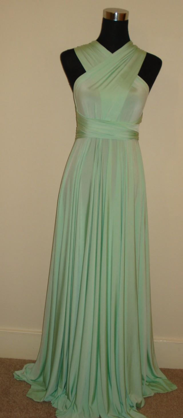 Soft Mint Bridesmaid Dress Blackless Strapless Dress ...