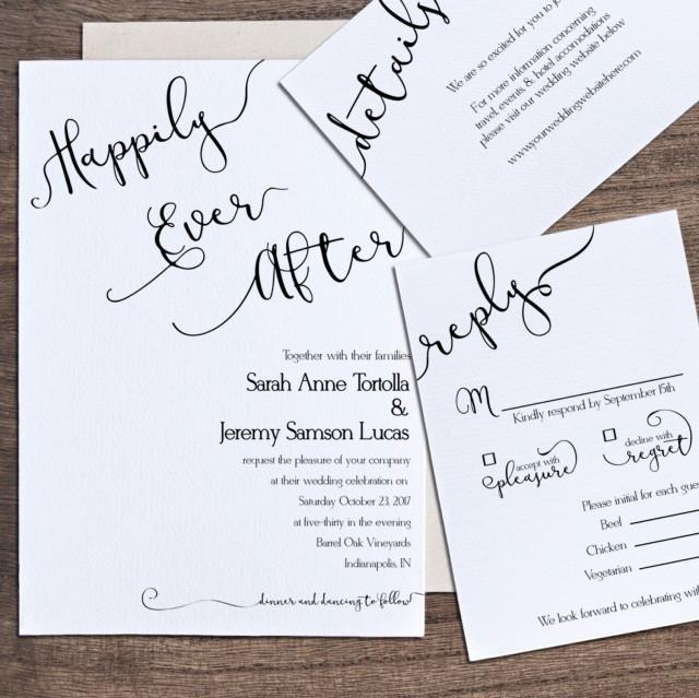 After Party Wedding Invitations: Wedding Invitation Template, Printable Wedding Invitation