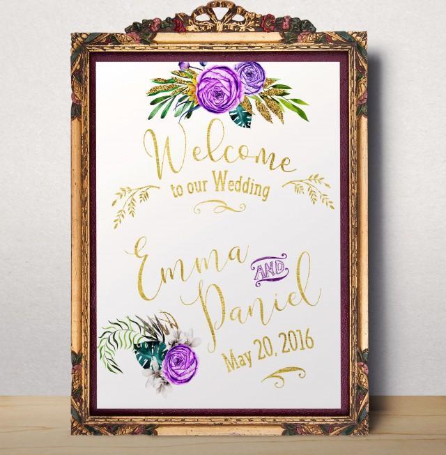 wedding photo - Welcome sign