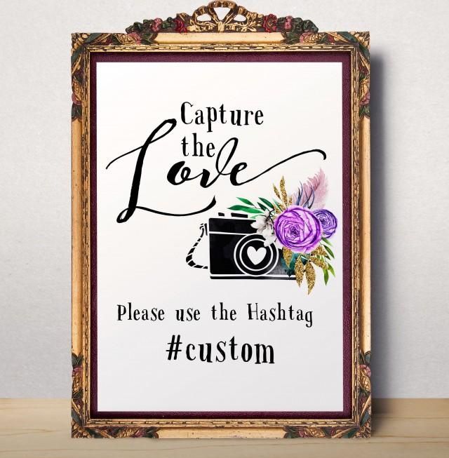 wedding photo - Instagram Hashtag Oh snap sign Wedding Hashtag Printable Wedding Instagram Sign Floral Personalized Wedding Instagram Hashtag Sign idw13