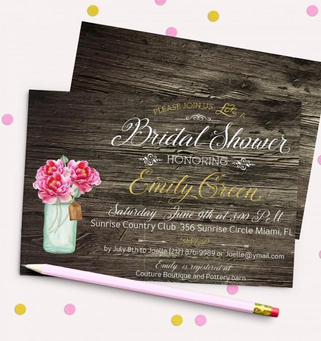 wedding photo - Bridal Shower Invitation Bridal Brunch Bridal Shower Printable Bridal Shower Invite Black White stripes Gold Glitter Shower Invitation idb5