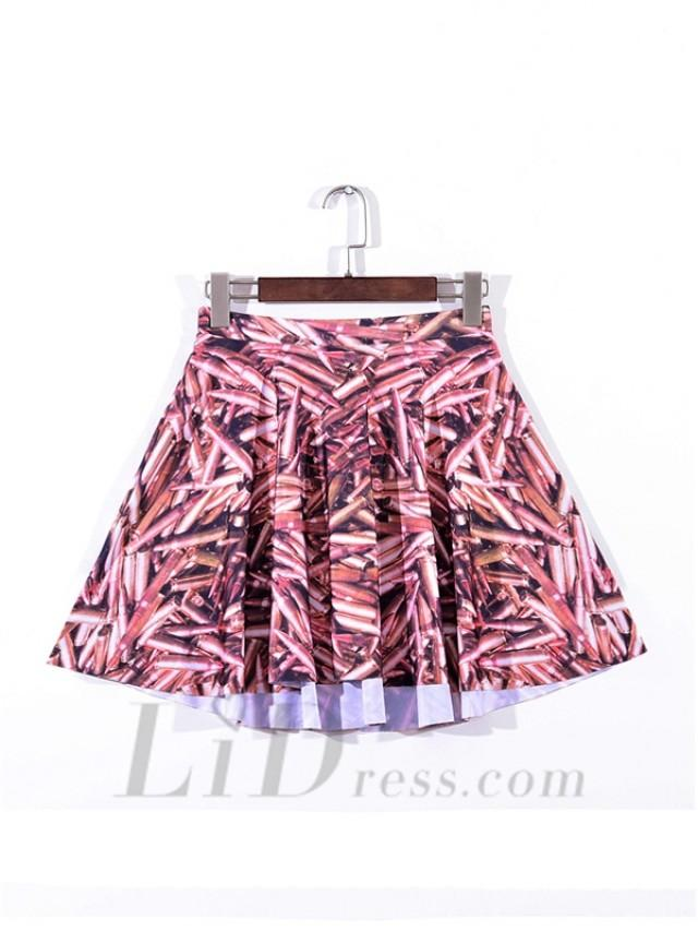 wedding photo - Digital Printing Bullet Pleated Digital Print Skirt Skt1098