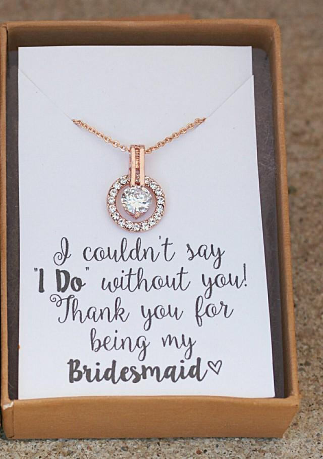 Bridesmaid NecklaceBridesmaid Giftpersonalized Wedding