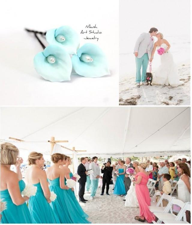 Turquoise Fuchsia Wedding: Blue Turquoise Wedding In Turquoise And Pink ... #2559556