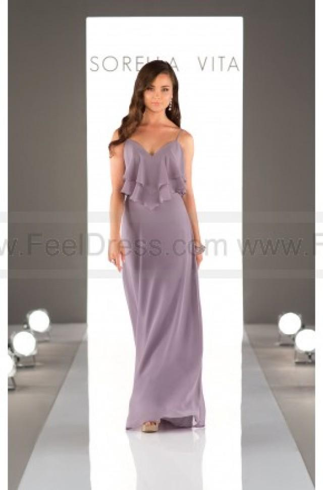 wedding photo - Sorella Vita Boho Chiffon Bridesmaid Dress Style 8796