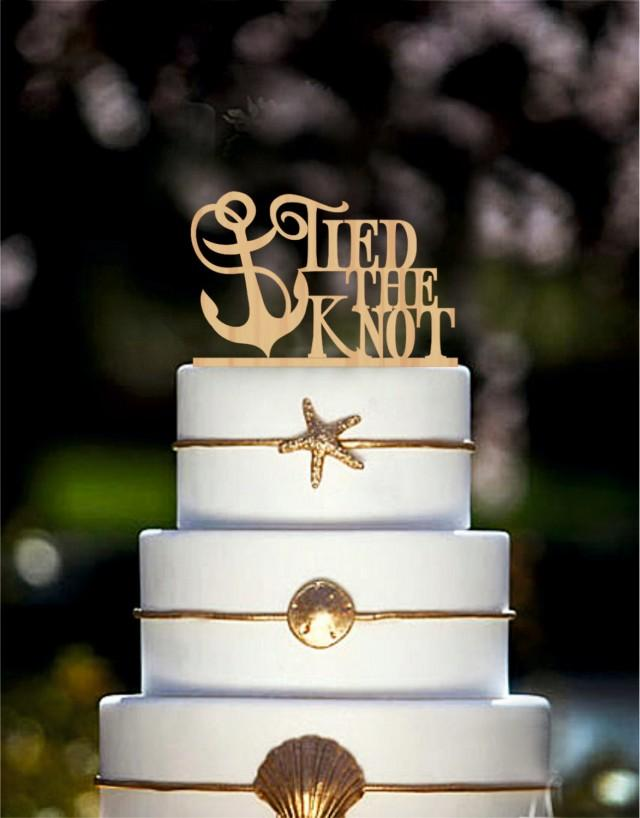 Wedding Cake Topper Tied The Knot Anchor Nautical Cake