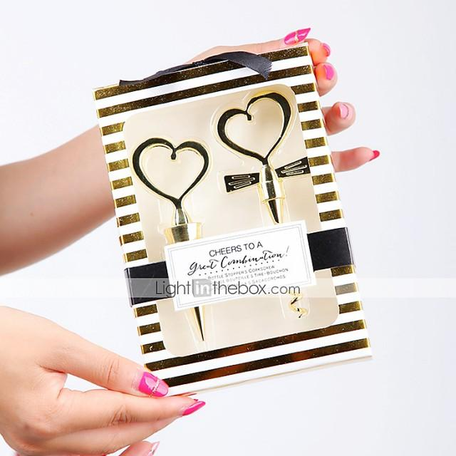 wedding photo - Beter Gifts®  Cheers to A Great Combination Gold Wine Set BETER-WJ004