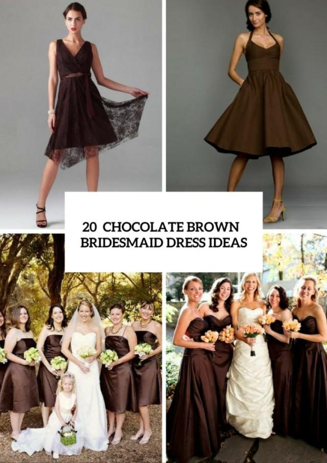fcab84a30a8146 20 Chic Chocolate Brown Bridesmaid Dress Ideas - Weddingomania - Weddbook