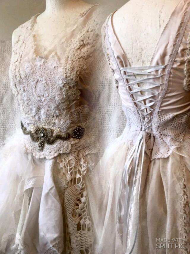 Alternative steampunk wedding dress unique gown vintage for Unusual wedding dresses for sale