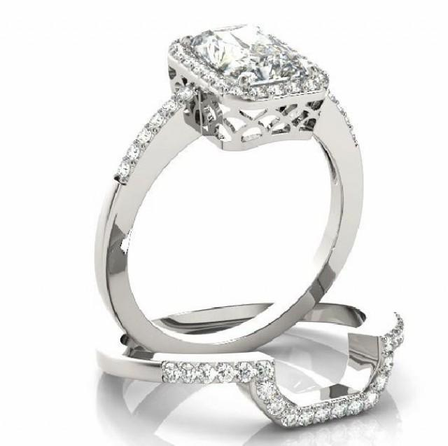 3 Carat Forever Brillaint Moissanite And Diamond Halo ...
