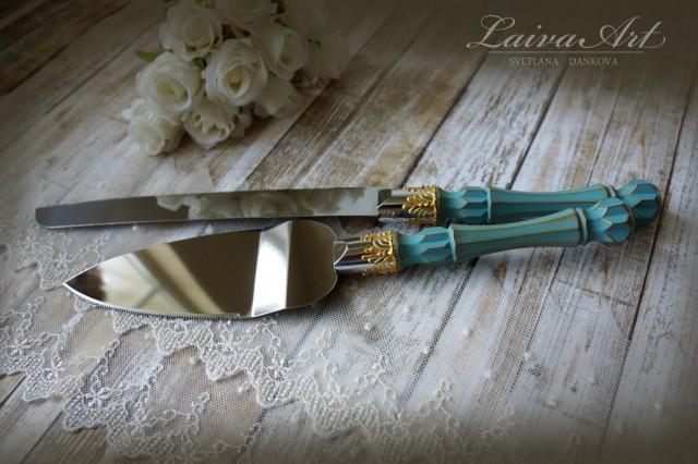 teal wedding cake server set knife cake cutting set wedding cake knife set wedding cake. Black Bedroom Furniture Sets. Home Design Ideas