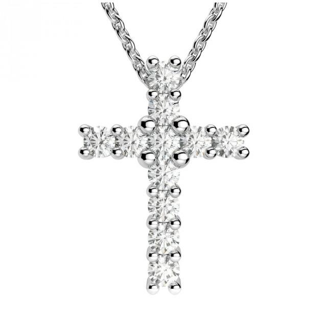 wedding photo - Forever Brilliant Moissanite Cross Pendant Necklace, Moissanite pendants, Moissanite Necklaces, for Women, 14k, 18k, Engagement Wedding Gifts, Anniversary
