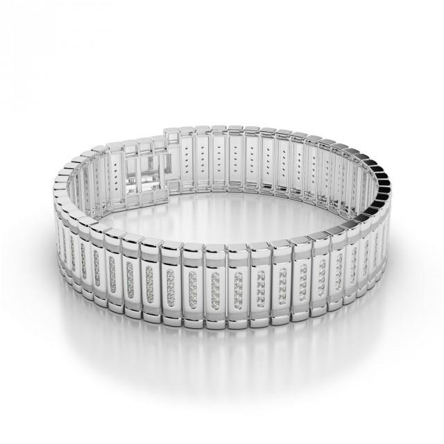 wedding photo - 3 Carat Men's Diamond Bracelet 14k White Gold (3 ct), Diamond Bracelets for Men, Anniversary Wedding Gifts for Men, Jewelry, High End, Luxury, For Husband, Gift Ideas
