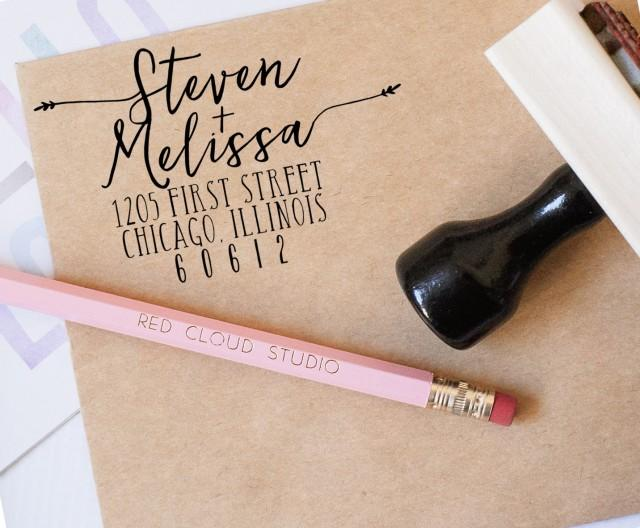 Return Address Stamp Wedding Invitation Stamp Save The