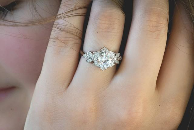 art deco engagment ring wedding ring promise ring