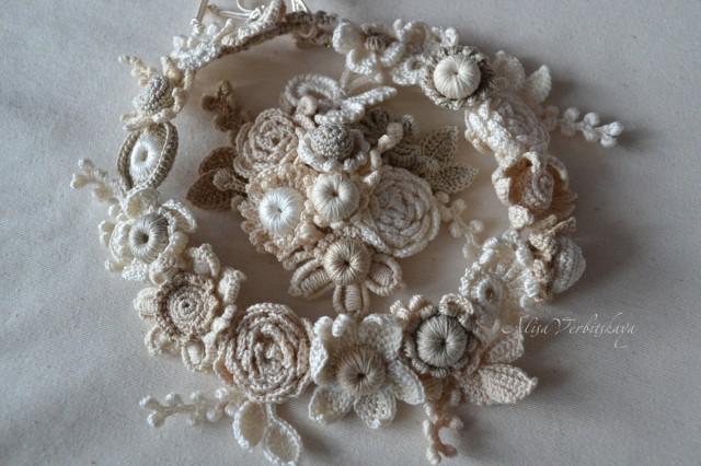 Wreath Hair Brooch Bracelet Wedding Hair Pin Pin Buds