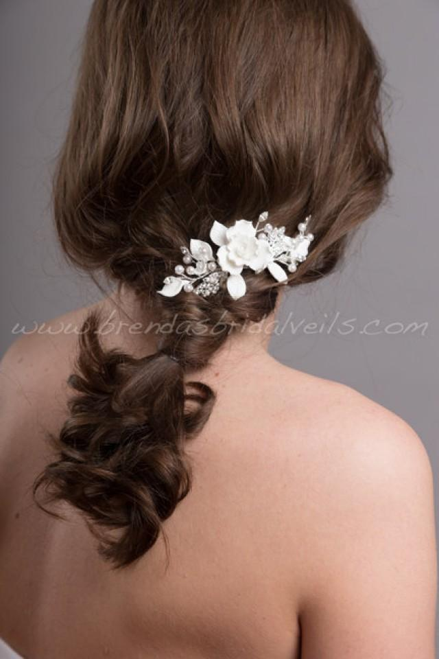 Wedding Hair Comb Bridal Pearl Flower Headpiece Bristol 2565071 Weddbook