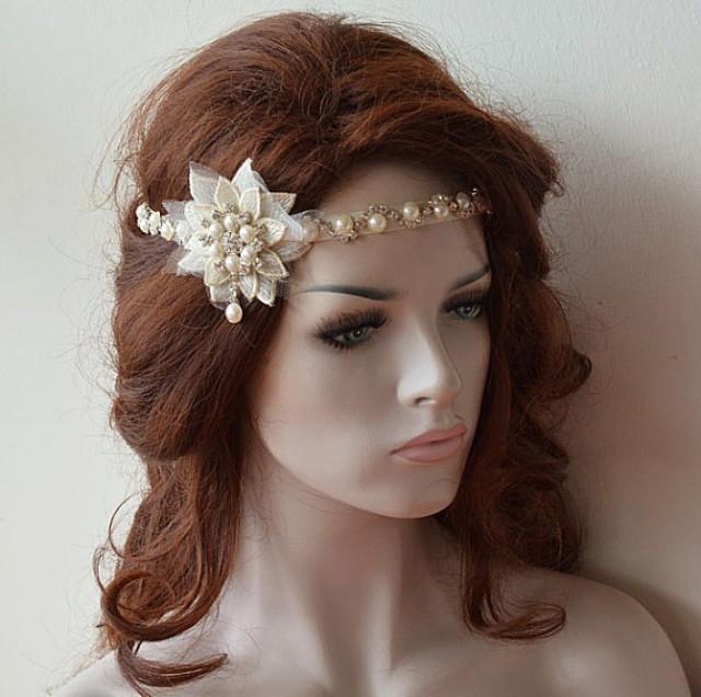wedding photo - Wedding Pearl Hair Jewelry, pearl headpiece, wedding hair accessories, Bridal Pearl Headband, Hair Accessories, Wedding headband
