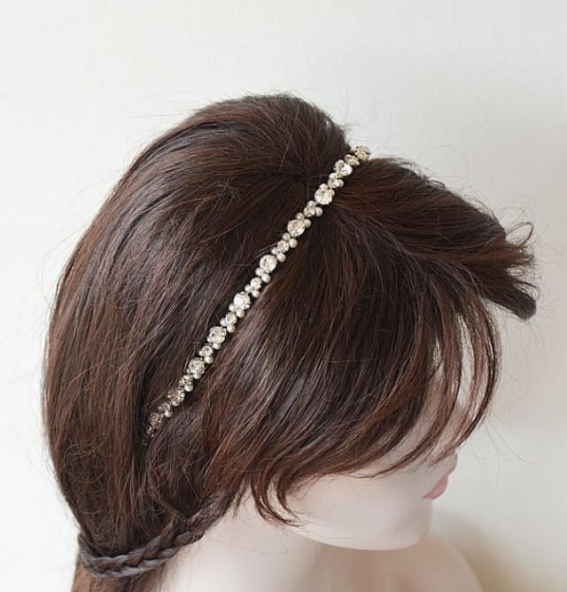 wedding photo - Wedding Pearl Headpiece, Bridal Headband Pearl, Hair Accessories Wedding, Pearl Bridal Headpiece, wedding hair jewelry, Hair Accessories