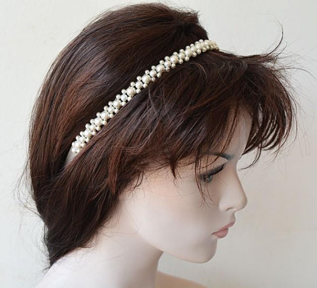 wedding photo - Wedding Hair Accessories, Bridal Pearl Headband, Pearl Headband Wedding, Head piece Wedding, Hair Accessories, Hair Jewelry