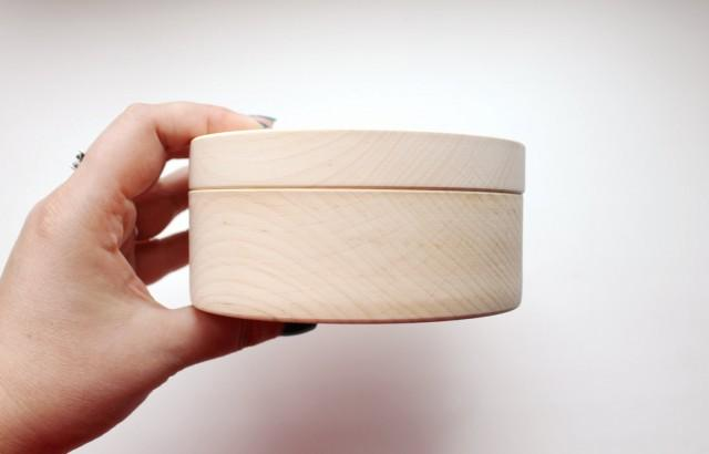 120 mm round unfinished wooden box with cover for Circular wooden box