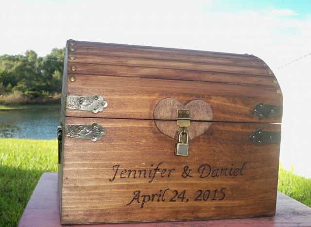 WEDDING CARD BOX Rustic Wooden Card Box Rustic Wedding Card Box