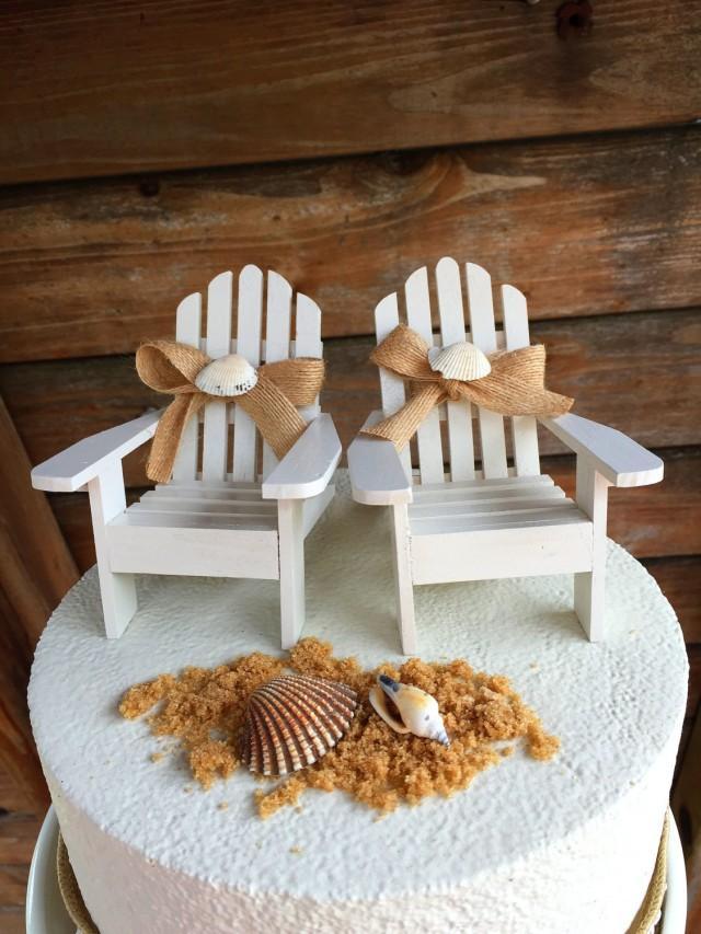 Adirondack Beach Chair Cake Toppers