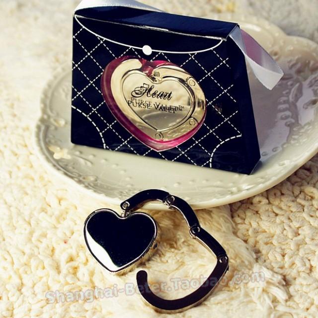 wedding photo - Beter Gifts®  Bridesmaids BETER-WJ020/A Heart Purse Handbag Holder