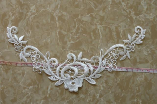 Flower Embroidery Applique Patches For Wedding Dress Decoration 2