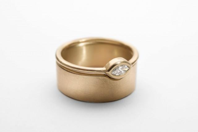 unique bridal ring set solid gold wide wedding band
