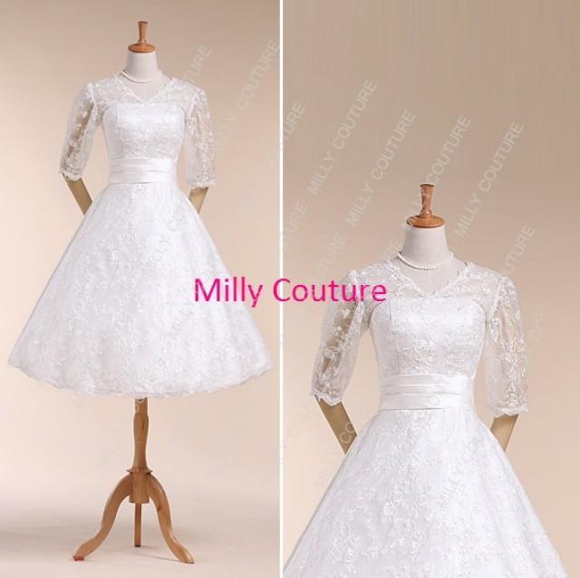 Short Wedding Dresses Tea Length Wedding Dresses 50s