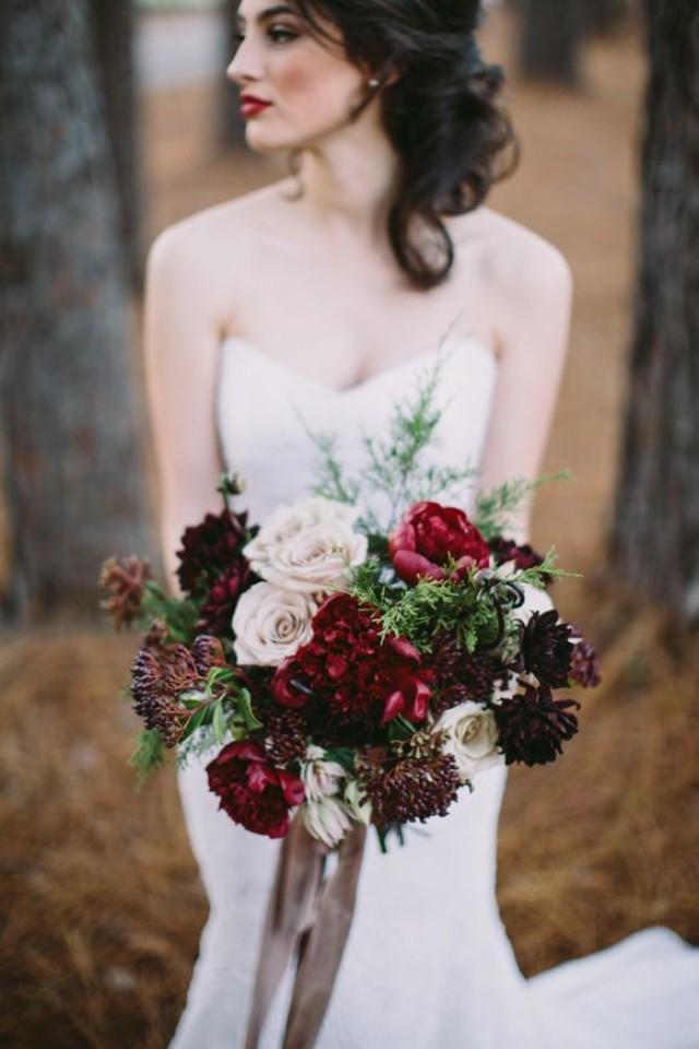 wedding photo - 9 Brautstrauß Ideen Für Die Winterhochzeit