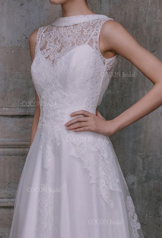 Designer classic wedding dress elegant and chic wedding for French lace wedding dress
