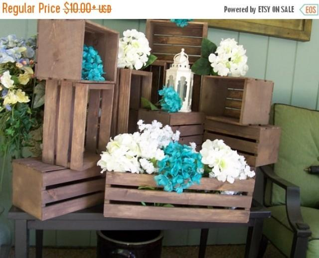 On sale wood crates rustic wedding reception