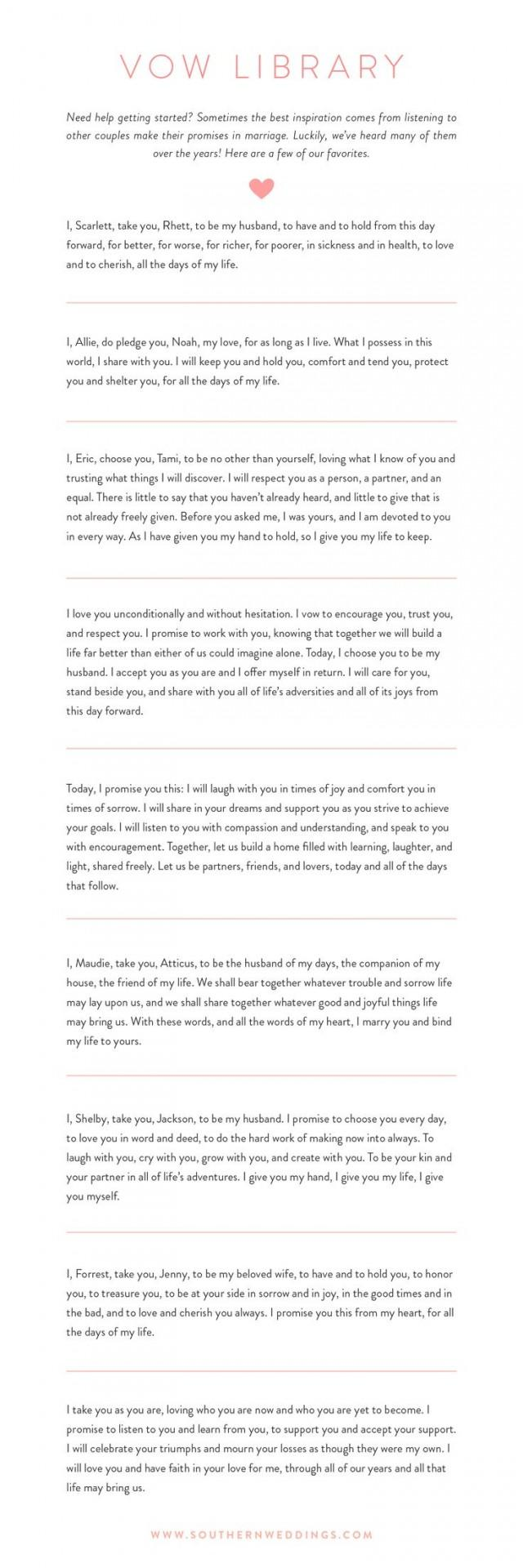 9 Romantic Wedding Vows